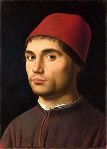 """""""Ritratto d'uomo"""" di Antonello da Messina. Alcuni critici ipotizzano che sia un autoritratto"""