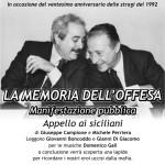"""26 luglio 07.30  Oggi pomeriggio """"Appello ai siciliani"""" per non dimenticare Paolo Borsellino"""