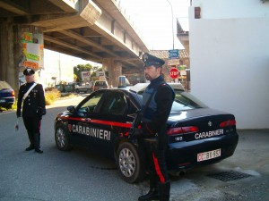 Una pattuglia del Nucleo Operativo e Radiomobile dei Carabinieri