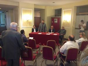La conferenza stampa dei sindacati