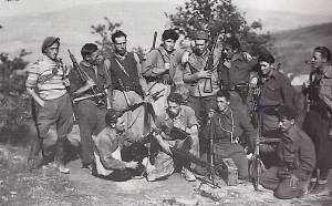 Partigiani durante la lotta di liberazione