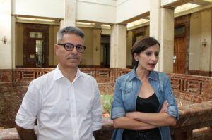 I consiglieri comunali Gino Sturniolo e Nina Lo Presti (Foto Paolo Furrer)