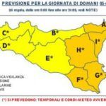 Allerta meteo per le prossime 36 ore nella Sicilia Orientale