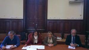 Da sinistra i consiglieri comunali Mondello, Scuderi, Perrone, De Leo