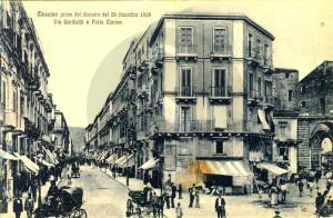 Messina prima del terremoto 1908, via Garibaldi