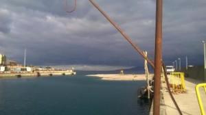 Il porto di Tremestieri insabbiato