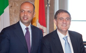 Il ministro dell'Interno Alfano e il presidente ARS Ardizzone