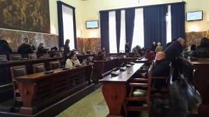 L'Aula consiliare di Palazzo Zanca