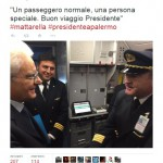 Il Presidente prende un volo Alitalia, ad Abu Dhabi qualcuno festeggia