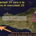 #Meteo dello Stretto. Piogge da scirocco in arrivo tra martedì sera e mercoledì mattina