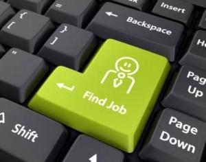 Giovani e lavoro tastiera PC