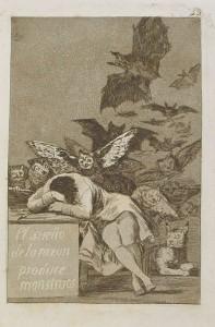 El sueño de la razón produce monstruos (acquaforte di Francisco Goya)