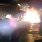 #Messina. In fiamme l'esterno di Brico Idea a Barcellona