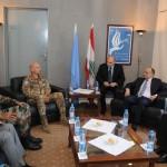 Il capo della missione di pace in Libano, l'agrigentino Portolano, riceve Ohanyan