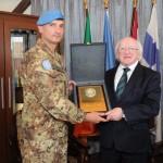 Il capo di UNIFIL, l'agrigentino Portolano, riceve il presidente irlandese Higgins