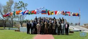 Foto di gruppo con i Capi Missione, alti funzionari, rappresentanti delle LAF e key element dello staff
