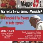 #Messina. PalaCultura, incontro con il vaticanista Luigi Sandri
