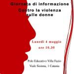#Catania. Giornata di informazione contro la violenza sulle donne a Villa Fazio