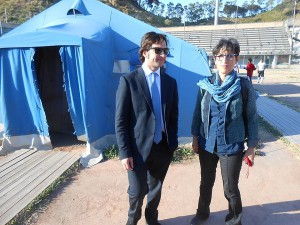 Fabrizio ferrandelli e Antonella Monastra al PalaNebiolo
