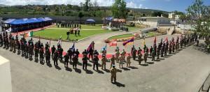 Peacekeepers Day_Reparti schierati nel luogo della cerimonia presso il quartier generale di UNIFIL in Naqoura