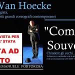 """#Messina. Lo spettacolo """"Comme un Souvenir"""" di Van Hoecke rinviato a data da destinarsi"""