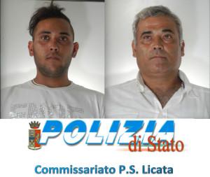 da destra Carmelo Militano di 48  anni e il figlio Salvatore  Militano di  21 anni