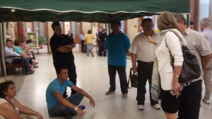 Occupazione Palazzo Zanca morosi 22-6-2015 a