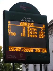 Palina elettronica bus