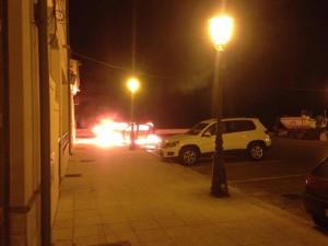 Auto in fiamme Barcellona 3-7-2015 a