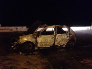 Auto in fiamme Barcellona 3-7-2015 b