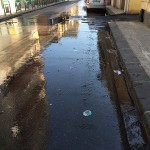 #Messina. Fiumi di acqua potabile in via Marco Polo a Contesse