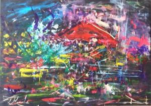 Una delle opere di Dimitri Salonia