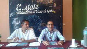 L'assessore Sidoti e il sindaco Materia