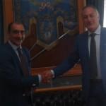 #Barcellona. Il commissario Romano ricevuto a Palazzo Longano