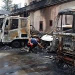 #Venetico Marina. Un incendio distrugge 14 camion, probabile l'origine dolosa