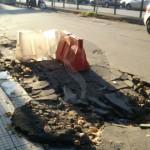 #Messina. Città a pezzi: voragine a Camaro, commercianti sul piede di guerra