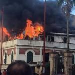 #Messina. Incendio a Sant'Agata, lunghe code e traffico in tilt LE FOTO