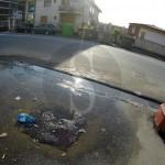 #Messina. Da sei giorni continua lo spreco d'acqua in via Consolare Pompea