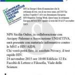 #Palermo. Terza edizione di Testing week, screening gratuito per HIV