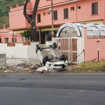 #Messina. Tragedia sfiorata, auto si ribalta