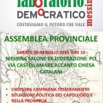 #Messina. Alle 10 assemblea provinciale LabDem