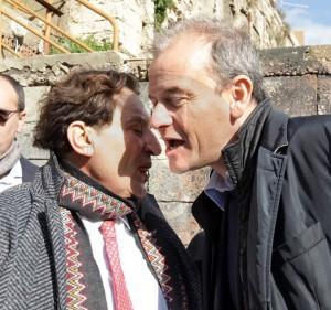 Il presidente della Regione Sicilia Rosario Crocetta con Vincenzo Franza, presidente di Caronte&Tourist
