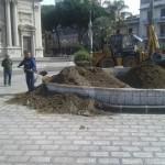#Barcellona. A piazza Duomo la fontana si trasforma in aiuola