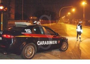 Posto blocco carabinieri notte