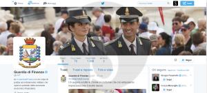Guardia di Finanza su Twitter