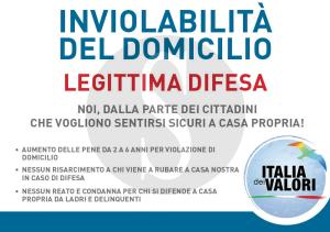Legittima difesa, Italia dei Valori, IDV