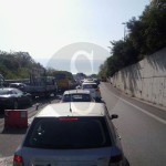#Messina. Incidente in autostrada: carambola tra due auto, traffico in tilt