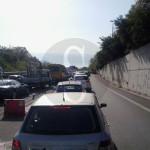#Messina. Incidente in autostrada: carambola tra due auto, traffico in tilt