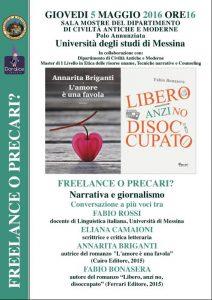 Freelance o precari Narrativa e giornalismo_sicilians_5_maggio_16