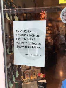 Libro Salvo Riina, Libreria Vicolo Stretto Catania